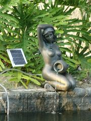 Pond Statues With Solar Water Pump Kit