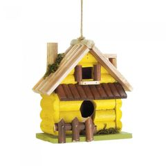 Yellow Log Bird House