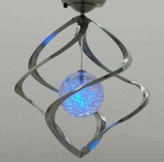 Solor Color Changing Outdoor Stainless Spinners Hanging Spirals