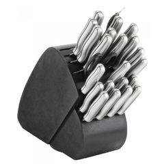 34Peice Steel Handle Knife Set
