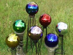 Real blown glass 10-inch diameter gazing globes