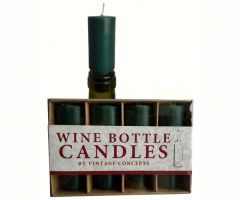 Set of 4 Wine Bottle Candles