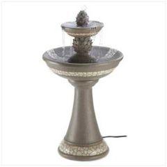 Mosaic Courtyard Water Fountain