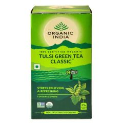 ORGANIC INDIA TULSI GREEN TEA CLASSIC 10 TEA BAGS