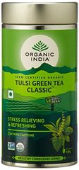 ORGANIC INDIA TULSI GREEN TEA CLASSIC 100 GRAM TIN