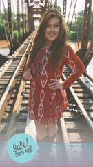 Rust Native Print Dress