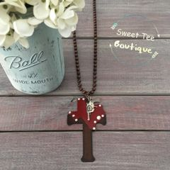 Texas Gun Cross Necklace