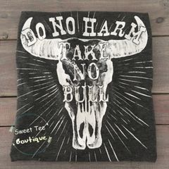 Do No Harm Cattle Print Top