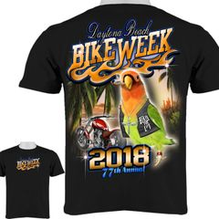 2018 Bike Week Daytona Beach Tropical Parrot with Cigar