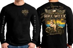 2019 Bike Week Vintage Pinup New LONG SLEEVE 0022