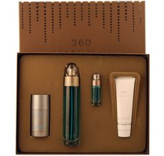 PERRY ELLIS 360 3.4 oz EDT 4 Piece Gift Set for men