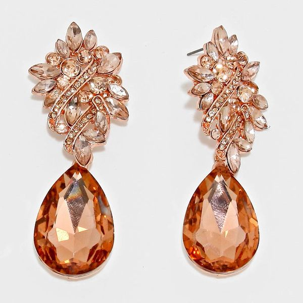 Bronze color crystal chandelier earrings azzeli bronze color crystal chandelier earrings aloadofball Image collections