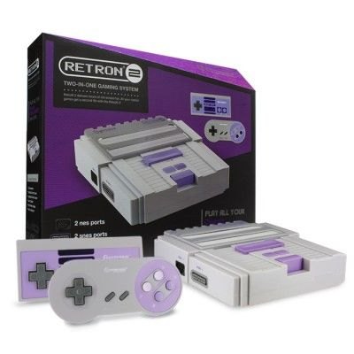 SNES/ NES RetroN 2 Gaming Console (Gray)