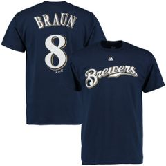 Milwaukee Brewers Ryan Braun Drifit Name & Number Shirt