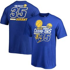 Kevin Durant Golden State Warriors Fanatics Branded 2018 NBA Finals Champions Name and Number T-Shirt