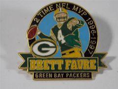 GREEN BAY PACKERS BRETT FAVRE 2X MVP LAPEL PIN NFL