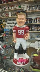 "Wisconsin Badgers J.J. Watt 3 Foot(36"") Bobblehead the ORIGINAL"