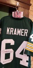 Jerry Kramer Autographed Custom Jersey W/HOF Inscription JSA