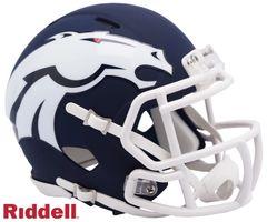 Denver Broncos NFL Riddell AMP Alternate Mini Speed Helmet