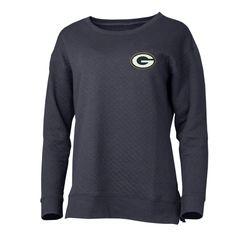 Green Bay Packers Ladies Lunar Quilted Long Sleeve Top