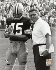 Green Bay Packers Bart Starr Vince Lombardi 16X20 Canvas print