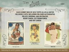 2019 TOPPS Allen & Ginter Hobby Sealed Baseball box
