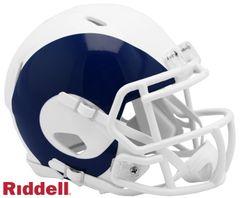 Los Angeles Rams NFL Riddell AMP Alternate Mini Speed Helmet