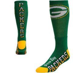 Green Bay Packers Flip Side Crew Socks Men's Size Large
