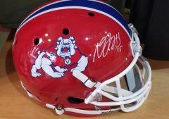 Green Bay Packers Davante Adams Autographed Full Size Fresno State Helmet #2