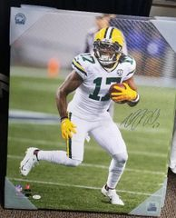 Green Bay Packers Davante Adams Autographed 20x24 Canvas Print JSA#2