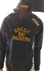Green Bay Packers Ladies Long Sleeve Hooded Top Blue Acme