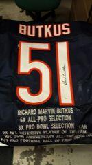 Dick Butkus Autographed Stat Jersey