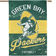 Green Bay Packers Vintage Linen Flag