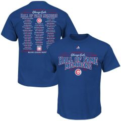 CHICAGO CUBS HALL OF FAME MEMBERS T-SHIRT MAJESTIC