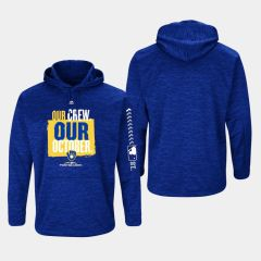 Majestic Royal Milwaukee Brewers 2018 Postseason Authentic Collection Streak Fleece Pullover Hoodie