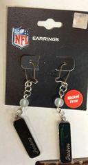 Green Bay Packers Dangle Plate Earrings