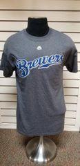 Milwaukee Brewers Ring Spun Cotton Charcoal Shirt