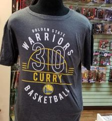 Stephen Curry Charcoal Golden State Warriors Name & Number Shirt