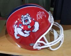 Green Bay Packers Davante Adams Autographed Full Size Fresno State Helmet #3