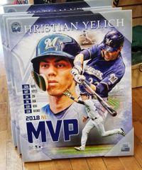 Milwaukee Brewers Christian Yelich 2018 NL MVP 16X20 Canvas Print