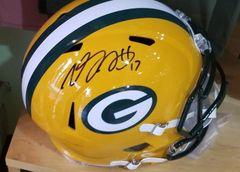 Green Bay Packers Davante Adams Autograph Full Size Speed Replica Helmet