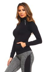 Women's/Ladies Seamless Performance Sports Jacket BLACK