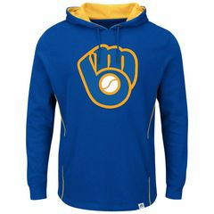 Milwaukee Brewers Lefty vs Righty Hoodie Hooded Sweatshirt MLB RETRO