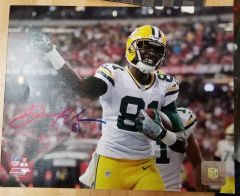 Green Bay Packers Geronimo Allison Autographed 8x10 Photo
