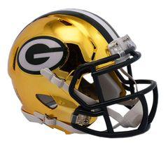 Green Bay Packers Riddell Replica Speed Mini Helmet - Chrome Alternate