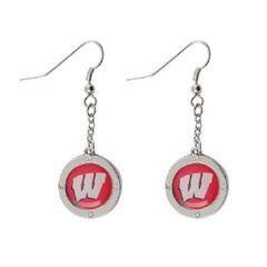 Wisconsin Badgers Rhinestone Earrings NCAA