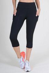 Women's Active High Rise 5-Pocket Capri Leggings Black