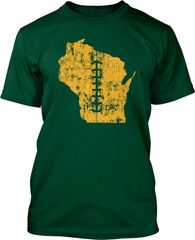 Wisconsin State Football Lace Shirt Green & Gold
