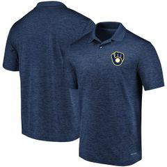 Milwaukee Brewers Majestic Navy Targeting Success Domestic Cool Base Polo