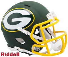 Green Bay Packers Riddell AMP Alternate Full Size Authentic Speed Helmet